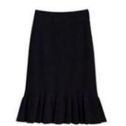 Megztas sijonas - juodas (S...